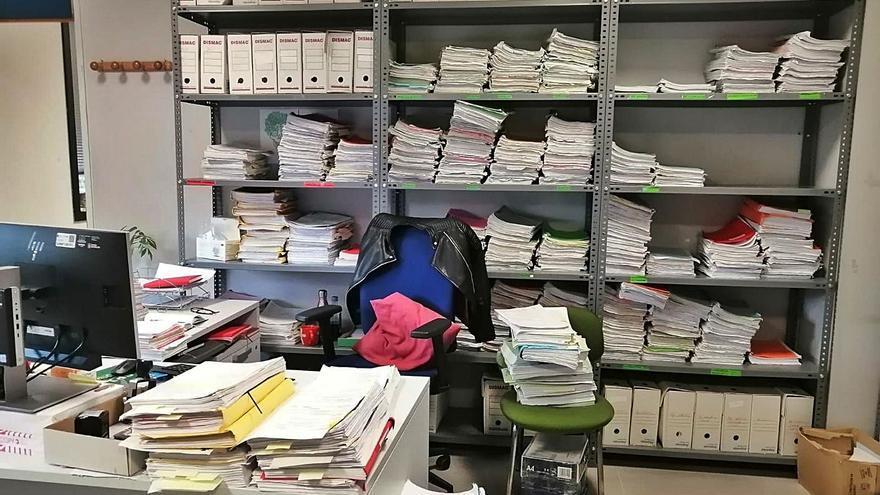 Los juzgados gallegos acumulan toneladas de documentos de hasta un siglo de historia