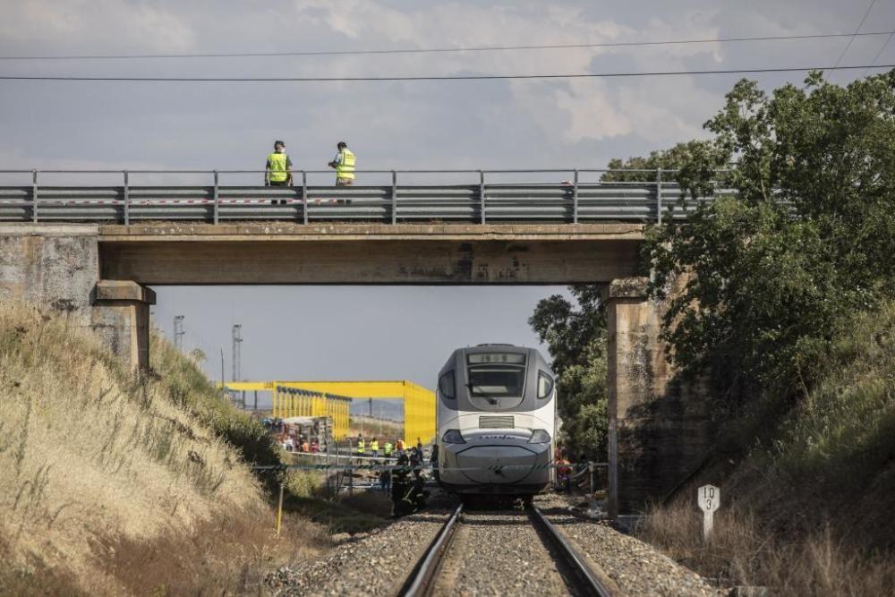 Accidente de tren en Zamora.