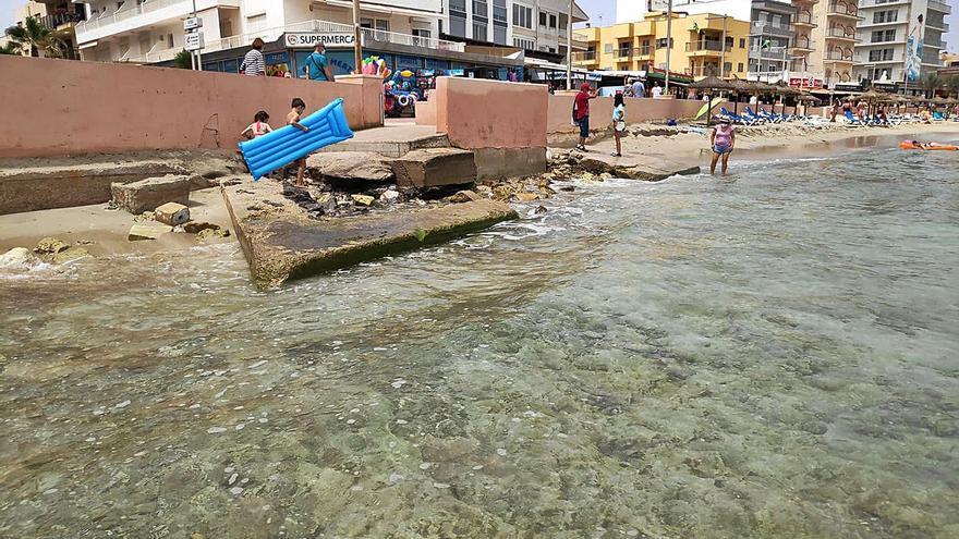 Can Picafort busca soluciones para evitar la pérdida progresiva de arena en la playa