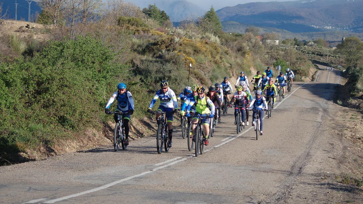 Ciclistas, en una ruta por la provincia de Zamora.