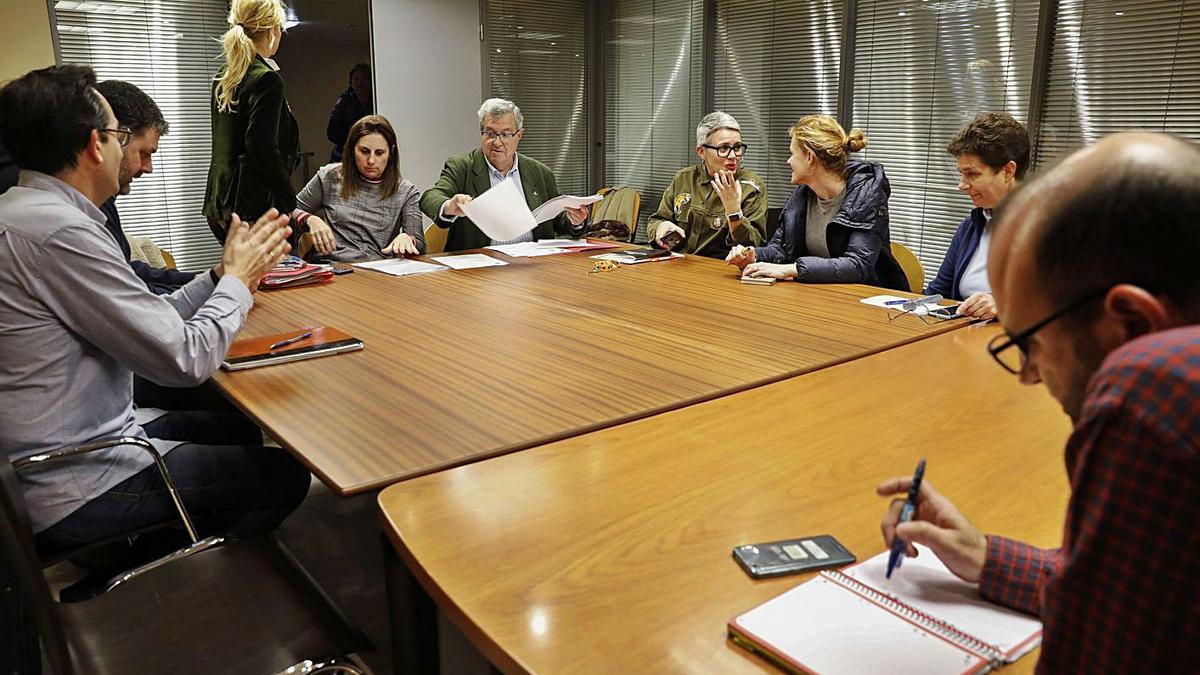 Una reunión del Consejo Escolar Municipal antes de la pandemia.   M. Villamuza