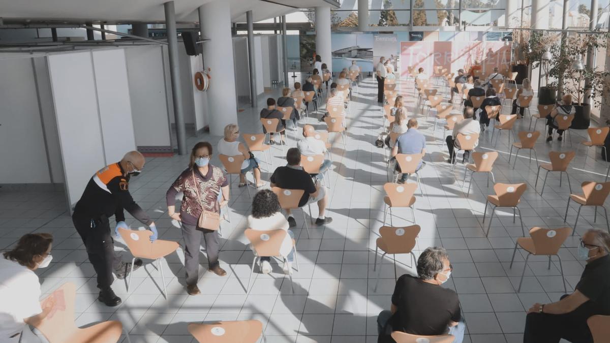 Sala de espera tras la vacunación
