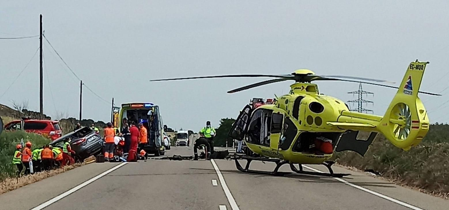 Muere un hombre tras una colisión de dos vehículos en la A-132 en La Sotonera