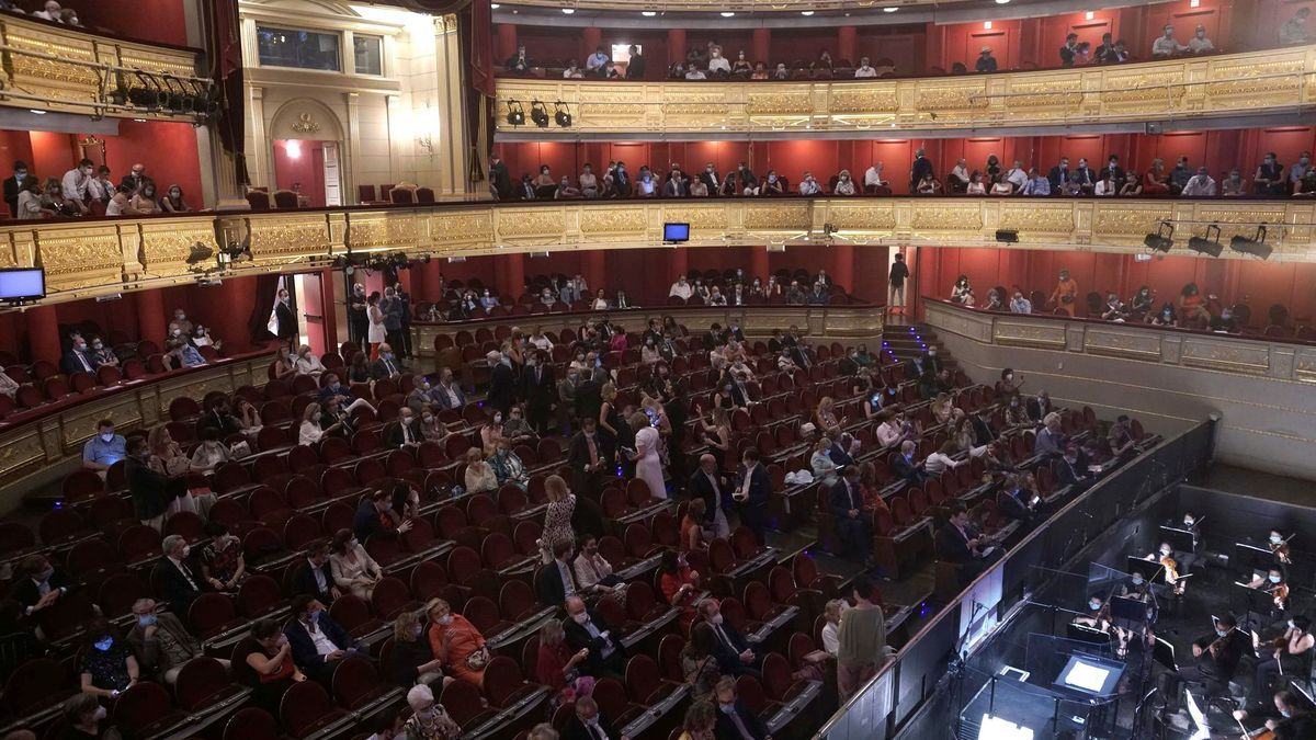 Audience at the Teatro Real in a performance during the health crisis