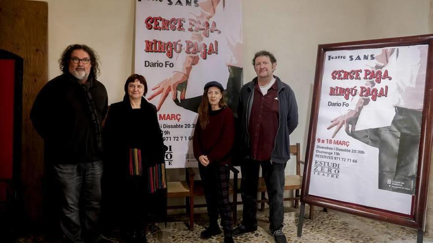El Teatre Sans sube a escena 'Sense paga, ningú paga!' de Dario Fo