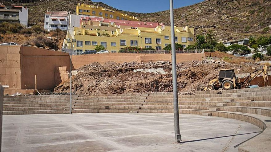 Infraestructuras avanza  en la rehabilitación del polideportivo de San Andrés