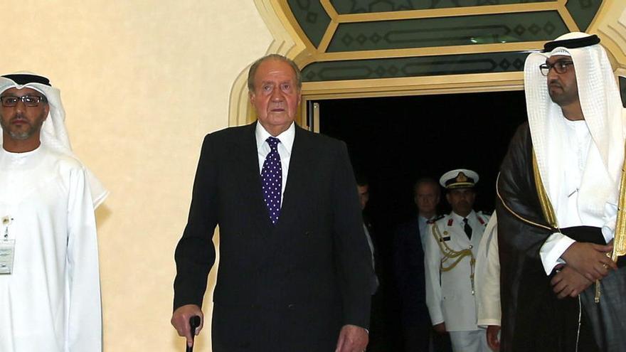 Una imagen situaría a Juan Carlos I en Abu Dabi