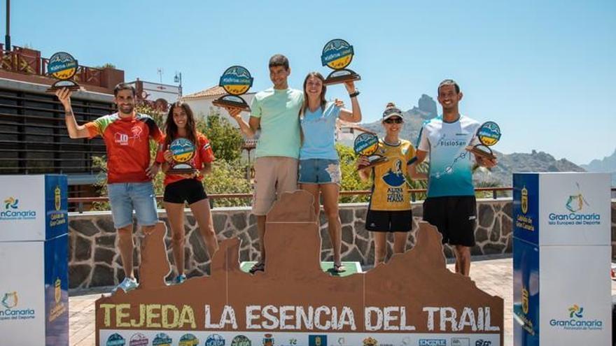 Efrén Segundo y Esther Fernández se proclaman vencedores de la Circular de Tejeda