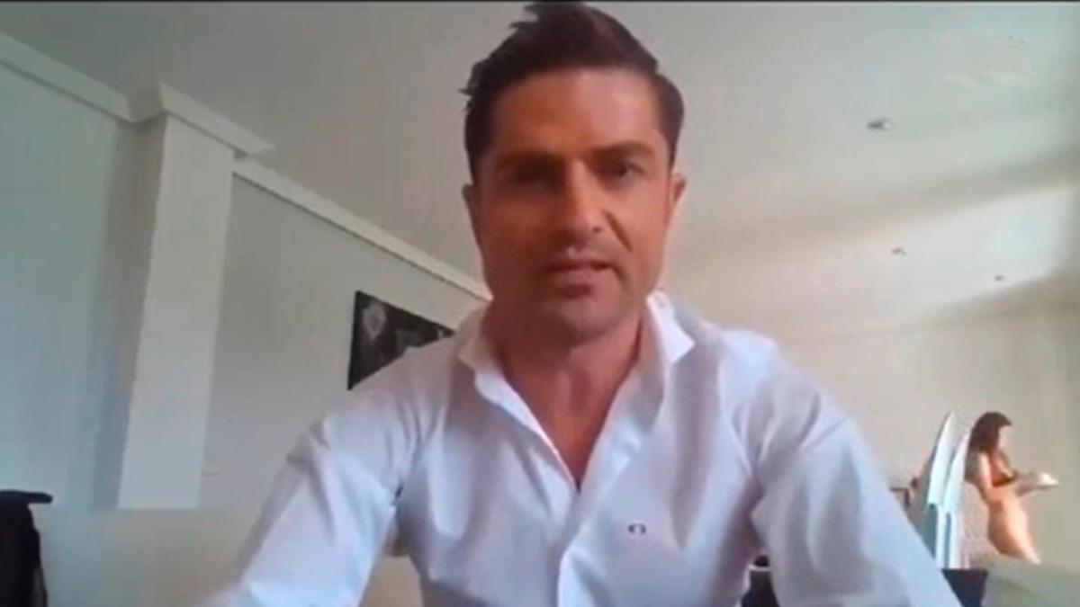 Un fotograma de la videoconferencia que reveló la infidelidad de Alfonso Merlos.