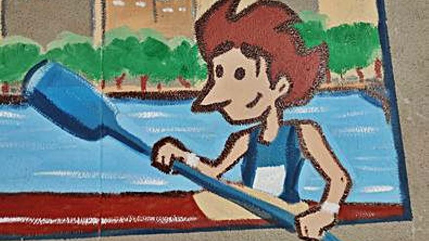El CEIP Manuel Vidal Portela estrena un mural sobre deportes