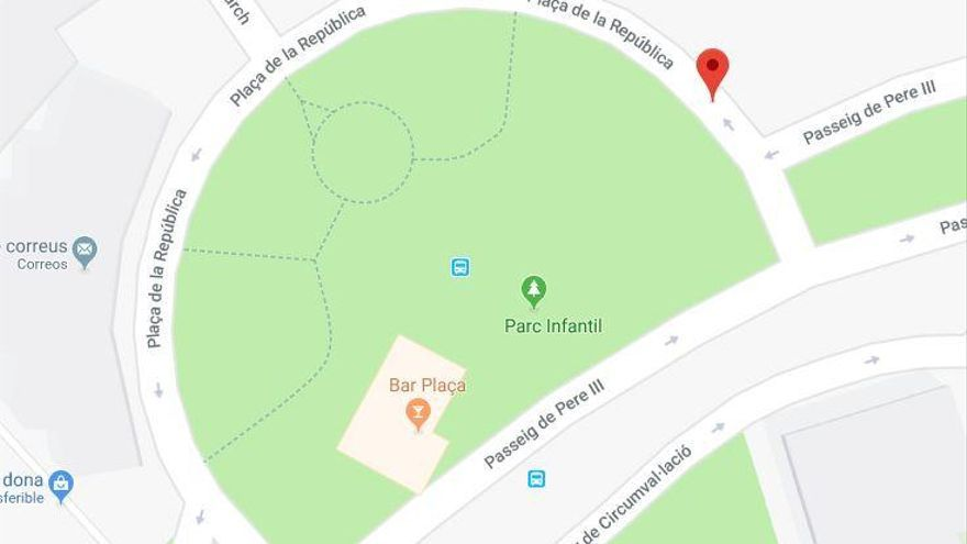 Manresa té una plaça de la República a Google Maps