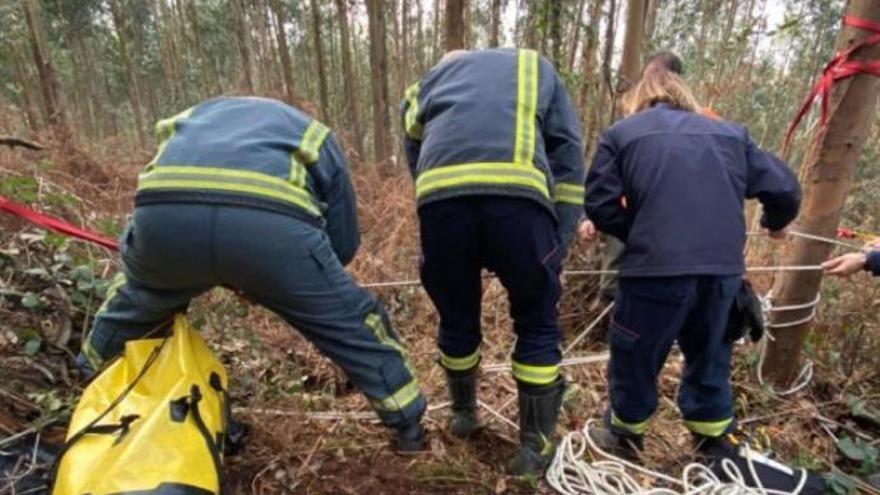 Rescatan en un monte a un cazador que cayó en un agujero de unos 10 metros