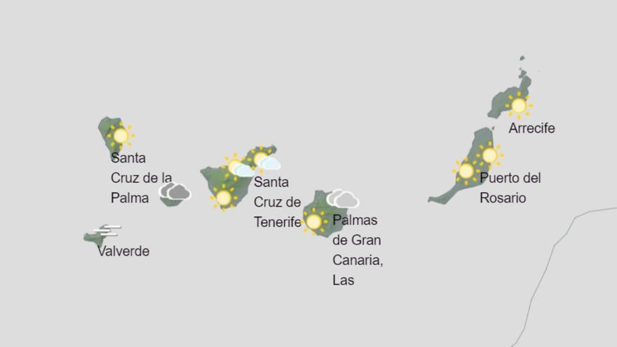 Rachas de vientos fuertes este martes en Canarias