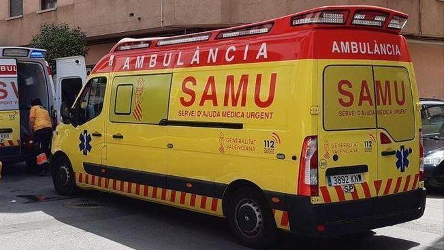 Herido un hombre al caer desde un andamio a cuatro metros de altura en Almassora