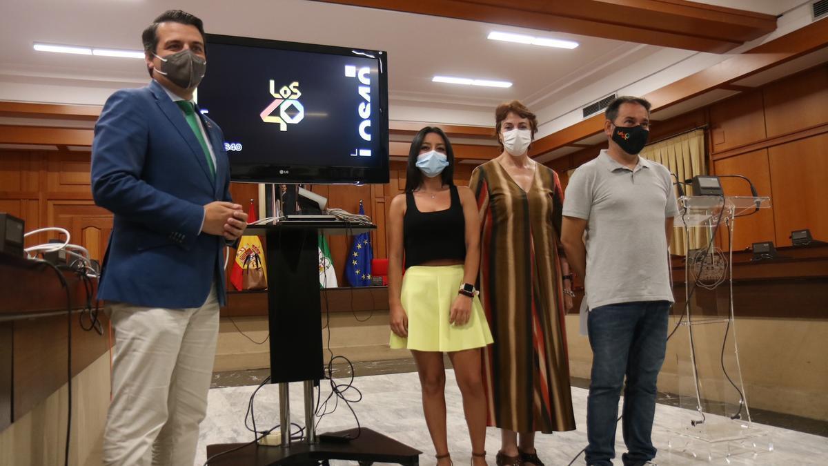 Preentación del concierto Los40 Pop en el Ayuntamiento de Córdoba