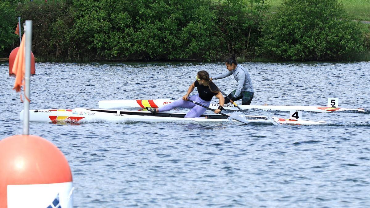 Antía Jácome durante la prueba celebrada ayer en Trasona.