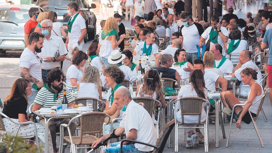 Las 'no fiestas' de San Lorenzo arrancan con absoluta normalidad
