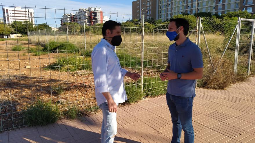 El PP alerta sobre el peligro de la falta de mantenimiento en los solares de Castelló