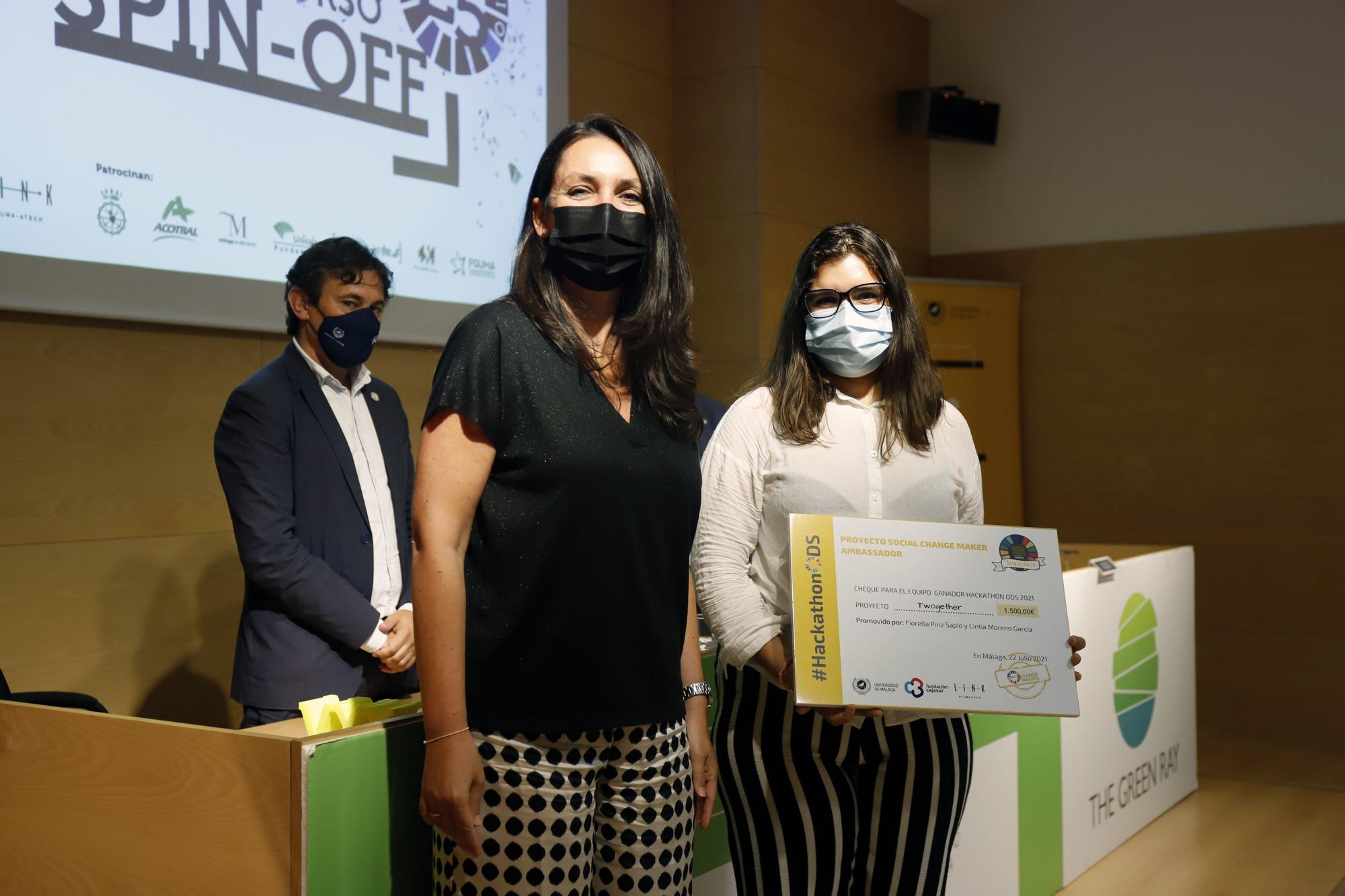 Entrega de los premios Spin-Off de la Universidad de Málaga