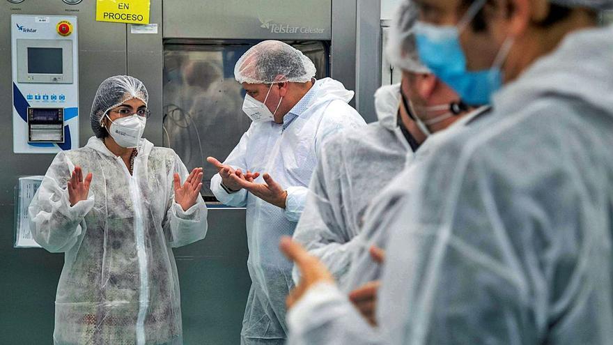 """Darias espera que la vacuna fabricada en Galicia reciba autorización """"a partir de abril"""""""