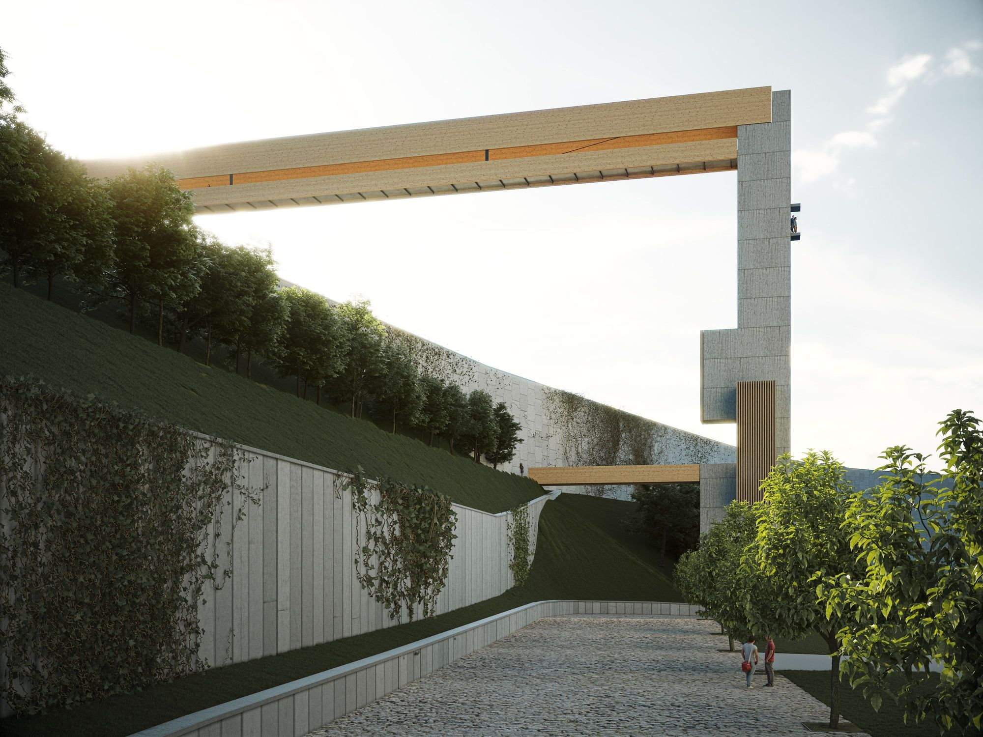 Así era el proyecto Madera por las nubes para conectar García Barbón y Vialia
