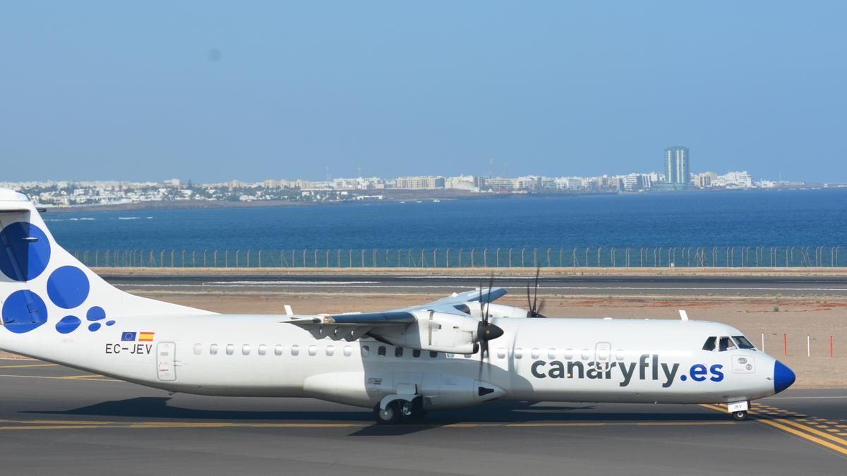 Avión de la compañía Canaryfly.