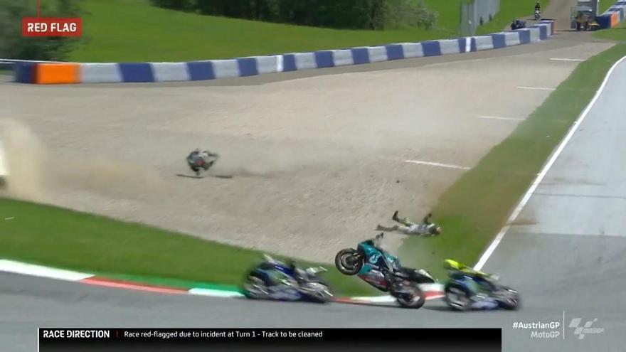 Otro grave accidente, ahora en MotoGP