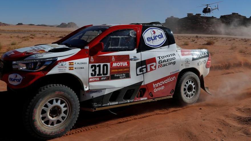 Fernando Alonso i Marc Coma són segons classificats en la vuitena etapa del Dakar