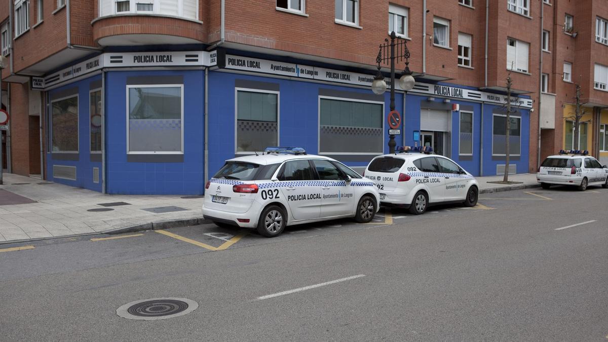 La sede de la Policía Local de Langreo.
