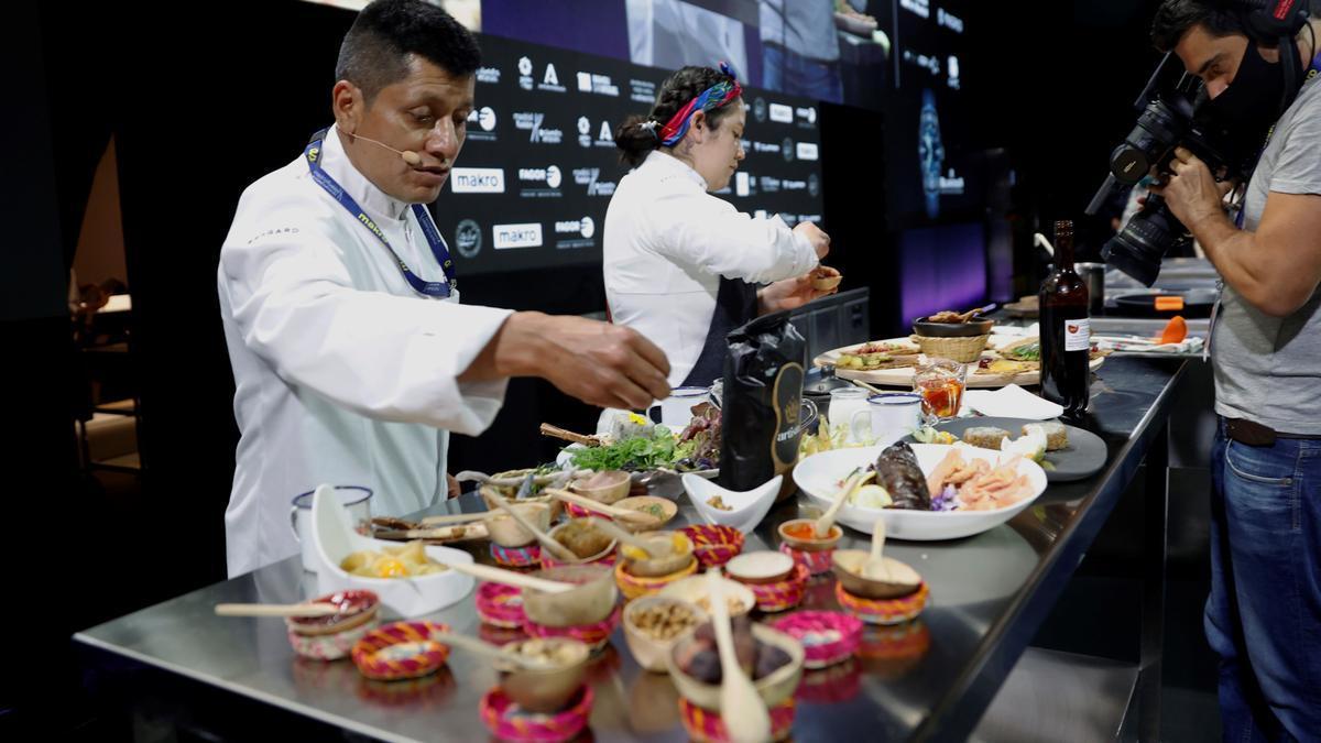 La cocina milenaria colombiana sorprende en Madrid Fusión.