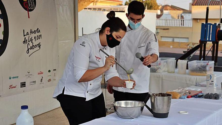 La chef María Gómez crea la 'Tapa fuentealamera'