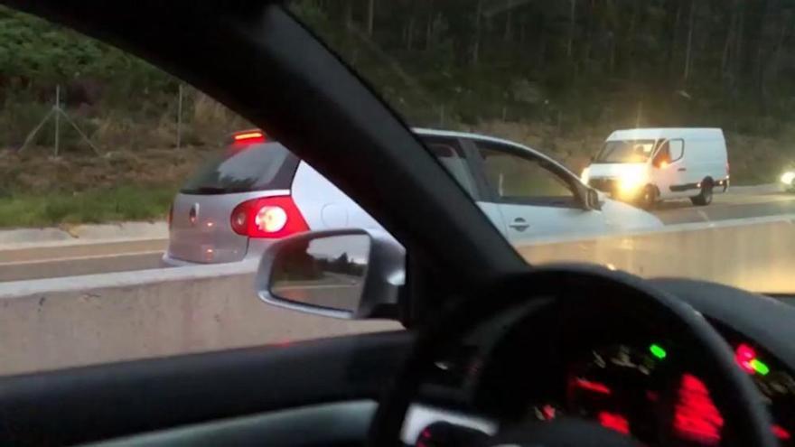 Investigado por conducir 10 km en sentido contrario por una autopista en A Coruña