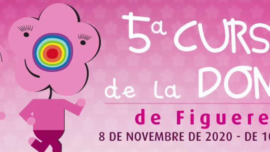 La Cursa de la Dona de Figueres tenyeix les xarxes de rosa