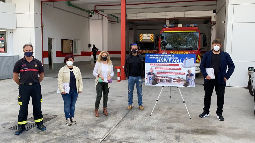 """Adelante critica el """"sobrecoste injustificado"""" en la reforma del parque de bomberos de Martiricos"""