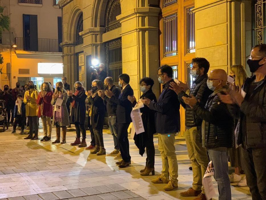 Protesta a Igualada per la detenció d'empresaris independentistes