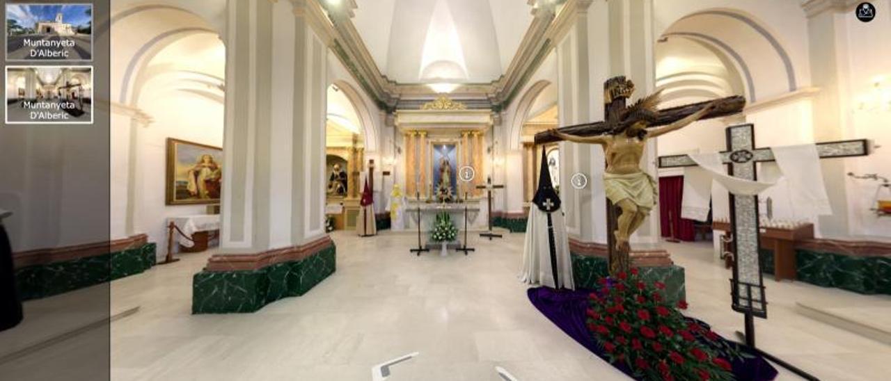 La ermita de Santa Bárbera, tal y como se ve desde en la visita virtual de Riberana.   LEVANTE-EMV