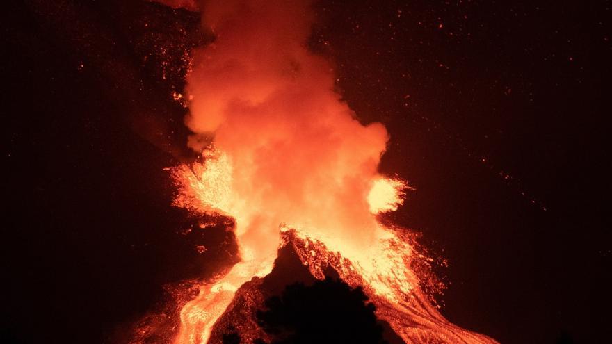 Las imágenes más impresionantes de la erupción de La Palma este fin de semana