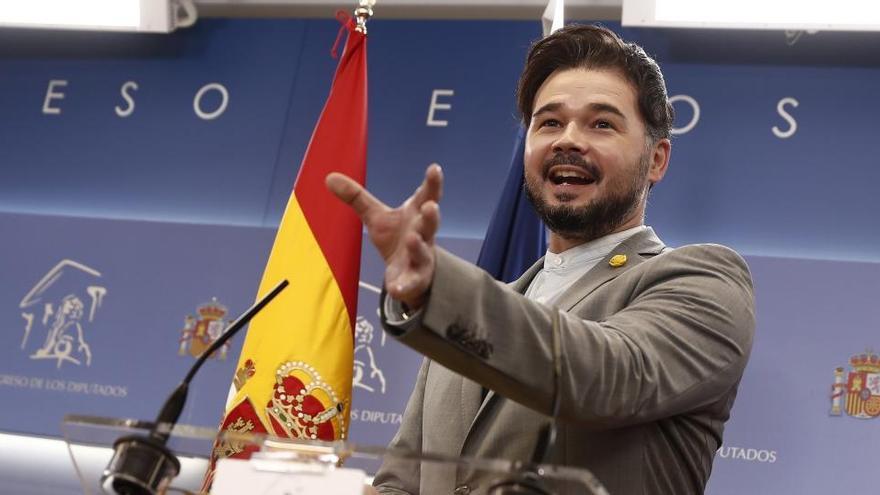 Rufián pide reuniones bilaterales entre Gobierno y Generalitat sobre las cuentas