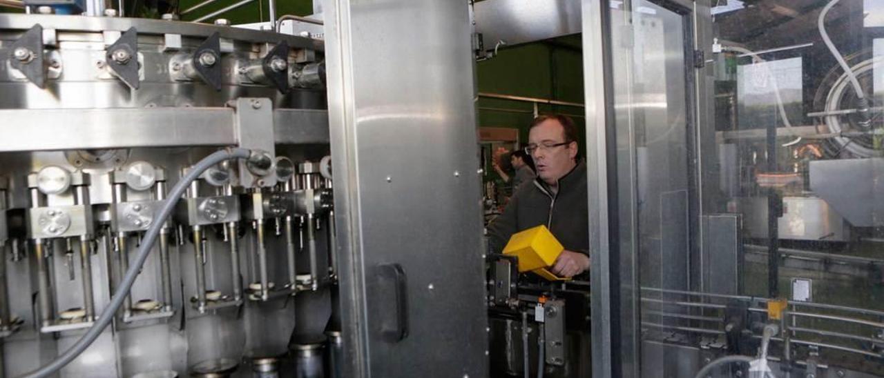 Trabajos de mantenimiento en el llagar de Cortina, en Villaviciosa.