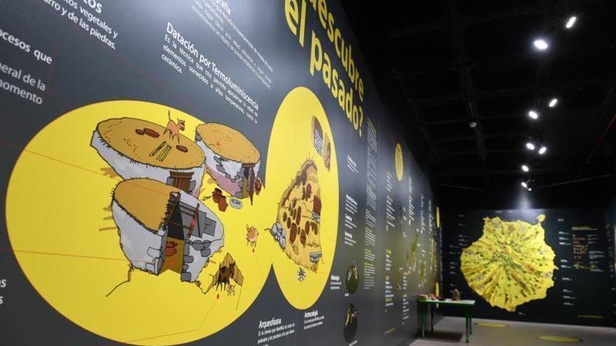 Una máquina del tiempo traslada a los canarios junto a sus aborígenes