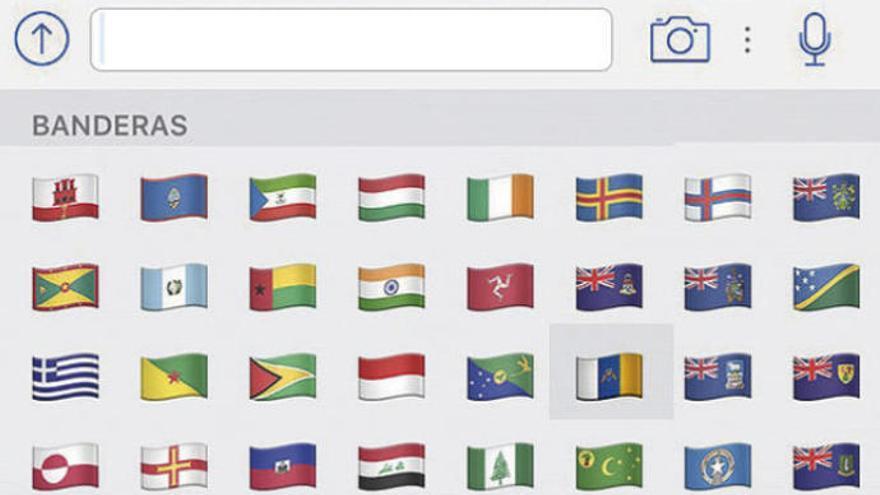 ¿Por qué la bandera de Canarias sale en el WhatsApp?