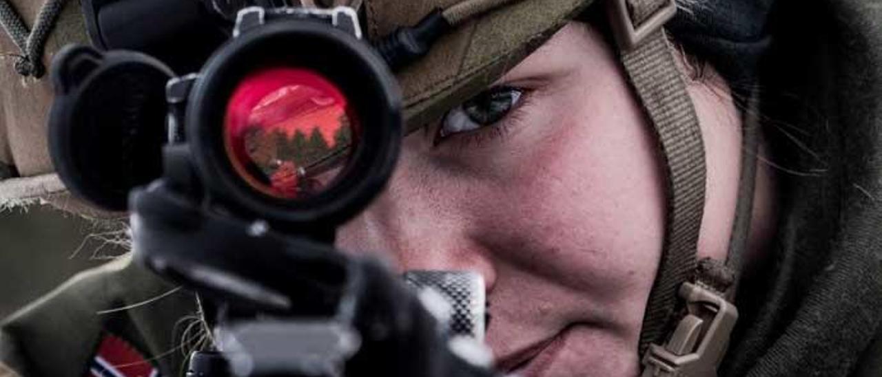 Un soldado de la OTAN, durante unas maniobras en Noruega.