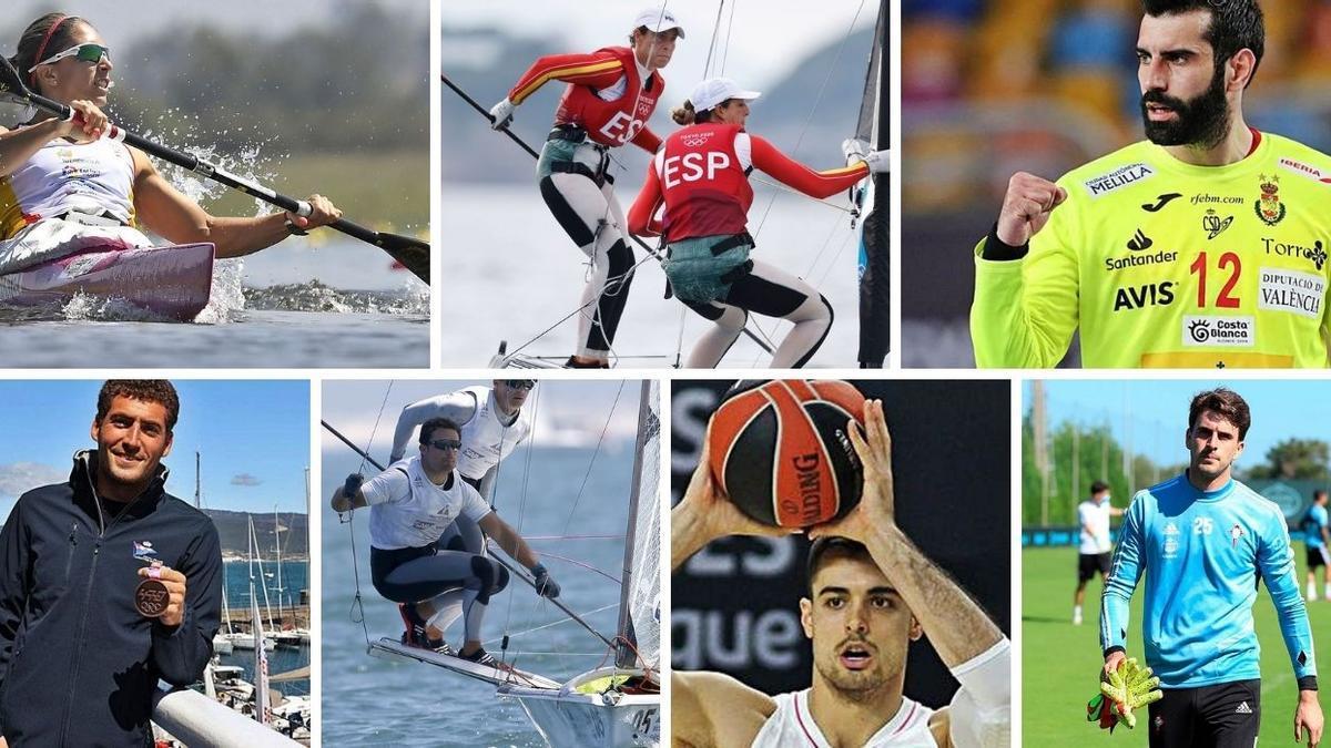 Siete deportistas gallegos entran en liza este martes olímpico, con dos posibilidades de medalla.