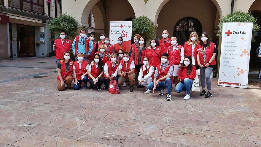 Celebración en Langreo del Día Mundial de la Cruz Roja