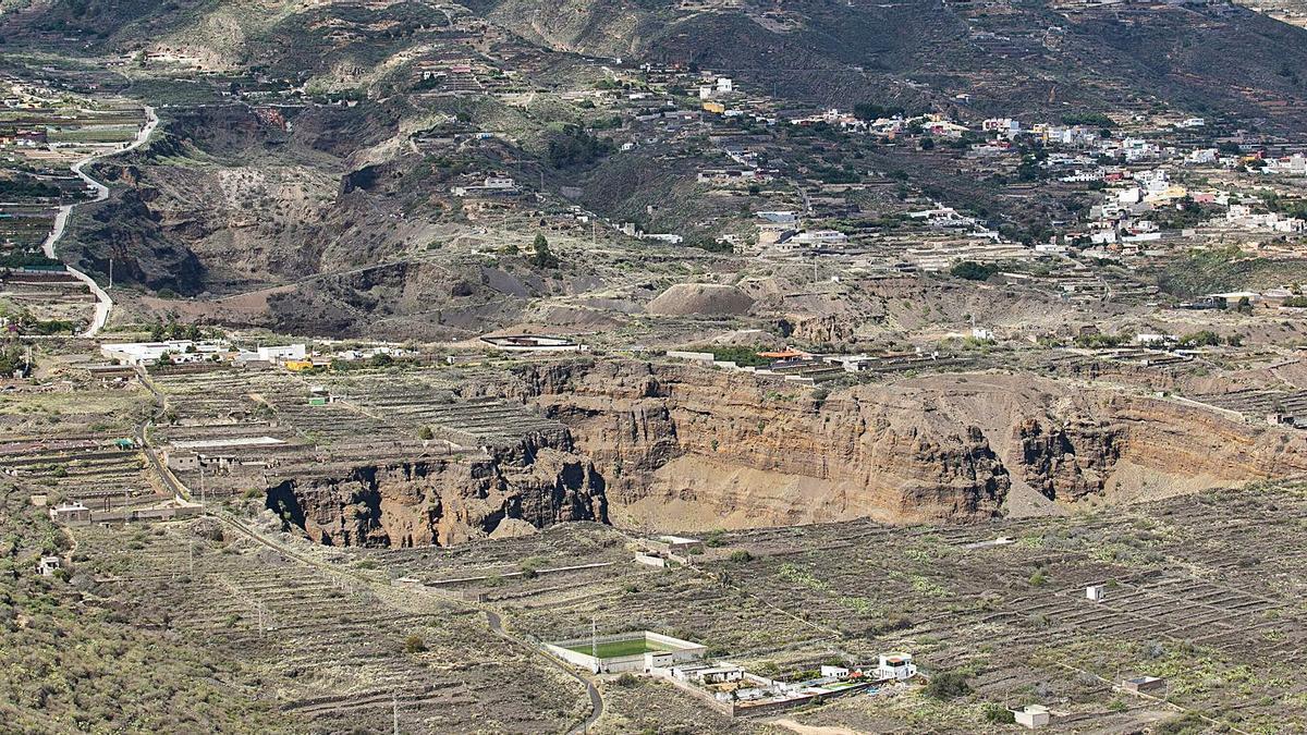 Cantera de áridos en los Barrancos de Güímar.