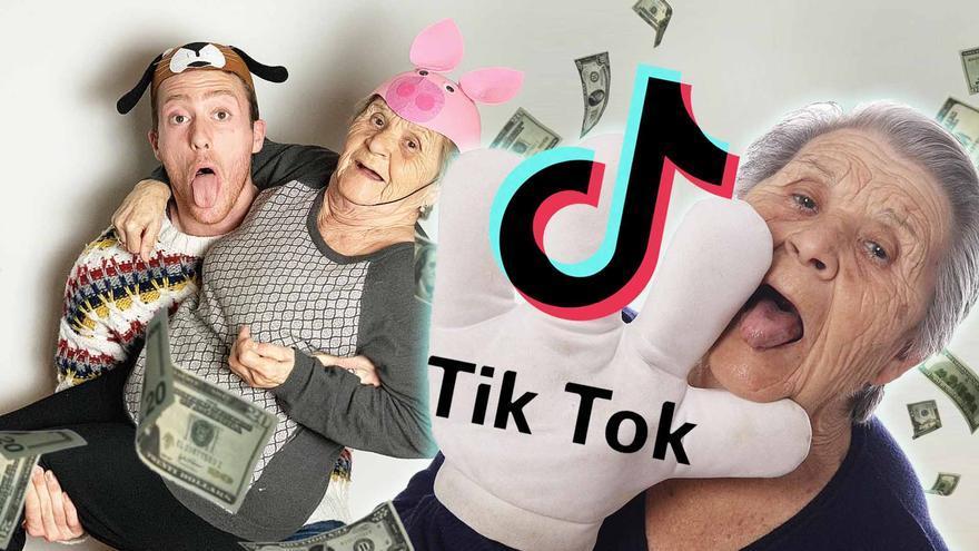 """La abuela famosa del Tik Tok enseña cómo graba los vídeos con su nieto: """"Me paran un montón de críos por la calle"""""""
