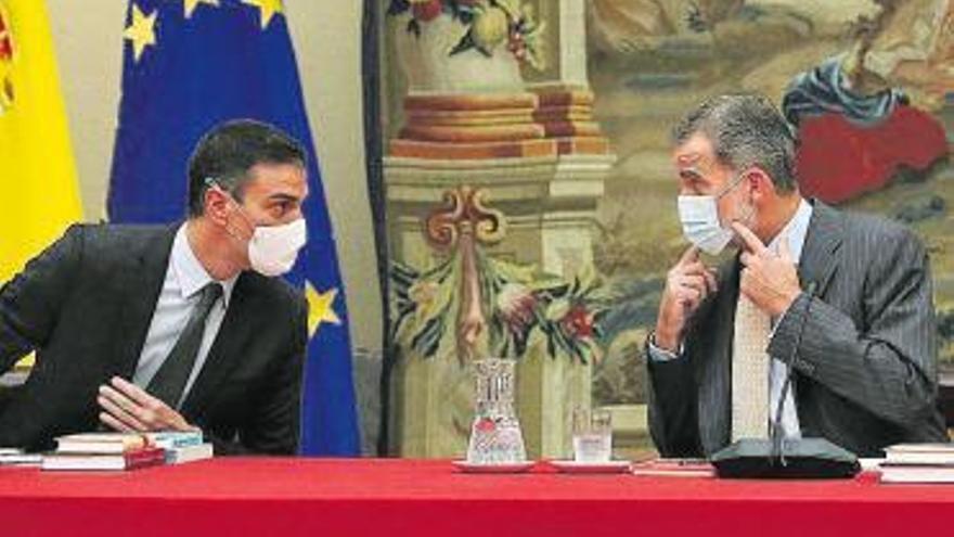 Sánchez y Felipe VI coinciden tras la polémica
