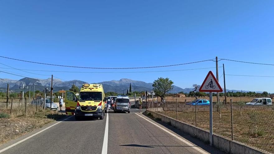 Un motorista muere en un accidente en la carretera de Binissalem a Biniali