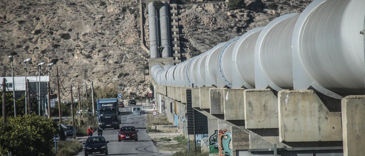 Infraestructura del trasvase Tajo-Segura en la Vega Baja