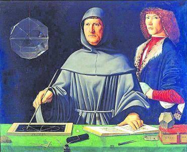 Luca Pacioli vestit de franciscà.  WIKIMEDIA COMMONS